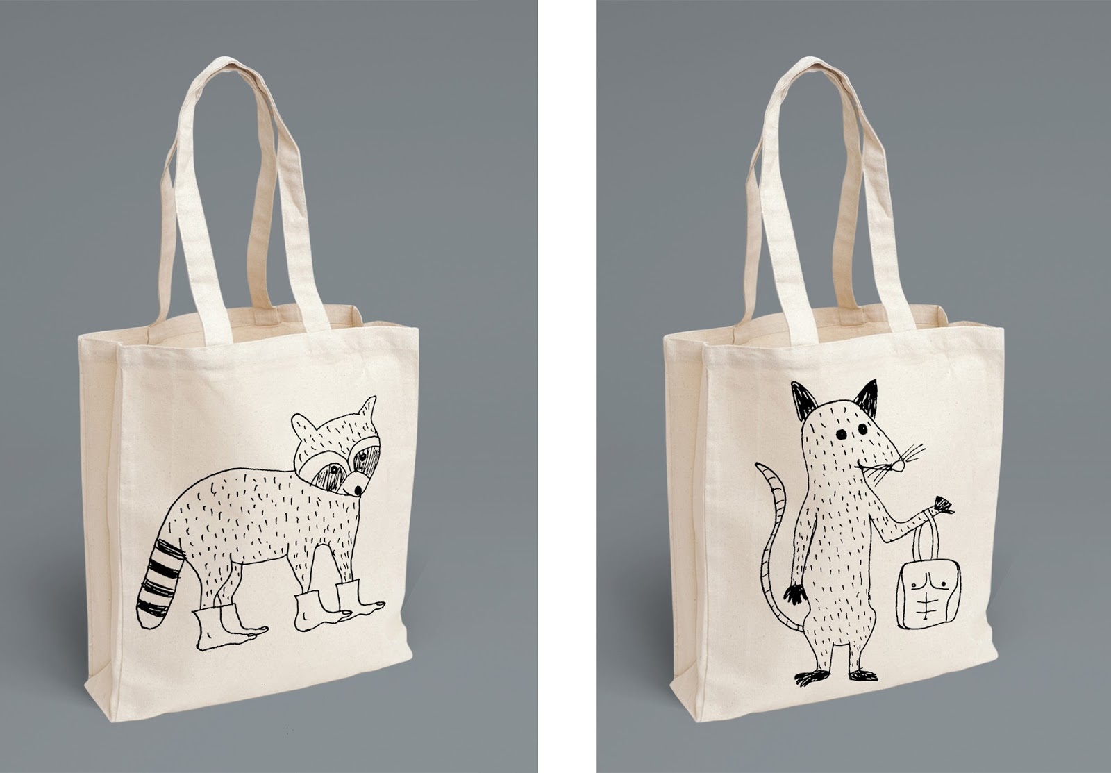 Racoon and opossum bags